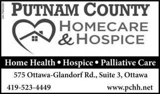 Home health, hospice, paliative care