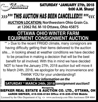 Auction Cancelled