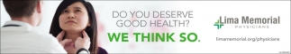 Do you deserve good health? we think so