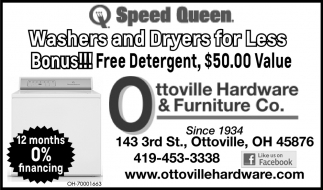 Washers and dryers for less