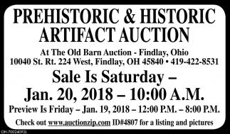 Prehistoric & Historic Artifact Auction