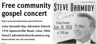 Free community gospel concert