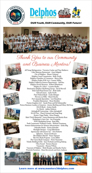 Thank You to our Community and Business Mentors!