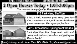 Open House Today!!