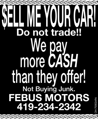 Sell me your car!