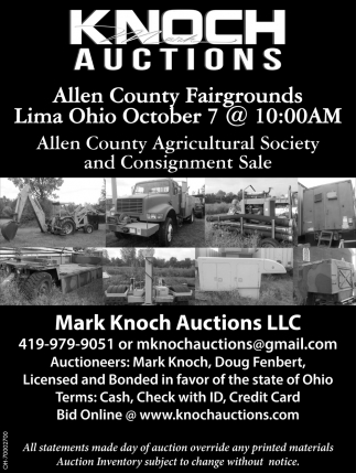 Allen County Agricultural Society and Consignment Sale