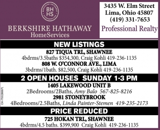New Listing / Open Houses