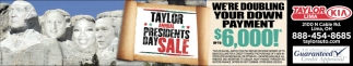Taylor Annual Presidents Day Sale